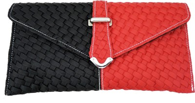 Goglamour Women, Girls Casual Red, Black Leatherette Sling Bag