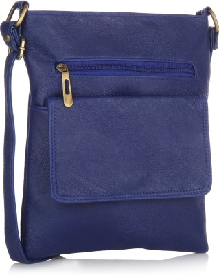 Alessia74 Women Casual Blue PU Sling Bag
