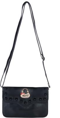 FabSeasons Girls, Women Black PU Sling Bag