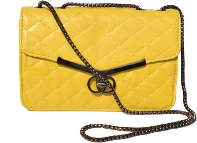 Basta Girls Yellow PU Sling Bag