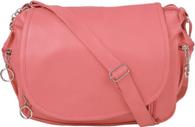Coash Women Pink PU Sling Bag