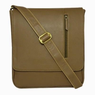 Chimera Leather Men Casual, Formal Beige Leatherette Sling Bag