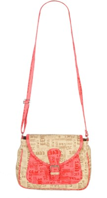 Fristo Women Casual Beige PU Sling Bag