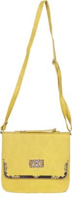 Kshipra Fashion Women, Girls Yellow Genuine Leather Sling Bag