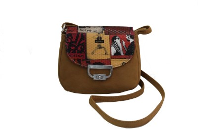ALTG Women, Girls Brown Rexine Sling Bag