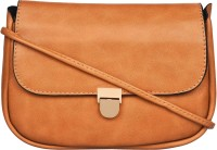 BLUR Women Orange Leatherette Sling Bag