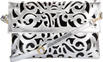 Alanna Women Casual Silver PU Sling Bag