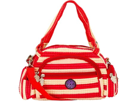 Glitters Girls Casual, Formal Red, White Rexine Sling Bag