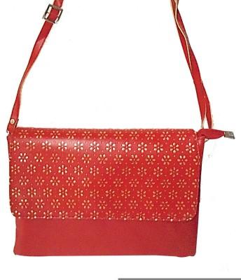 Ellye Girls Casual Red PU Sling Bag