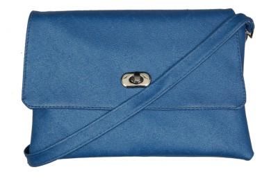 Borse Women Blue PU Sling Bag