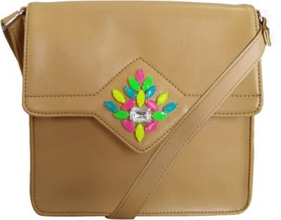 Toteteca Bag Works Women Casual Tan PU Sling Bag
