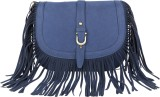 Lino Perros Women Blue Leatherette Sling...