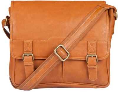 Lomond Men Casual Tan PU Sling Bag