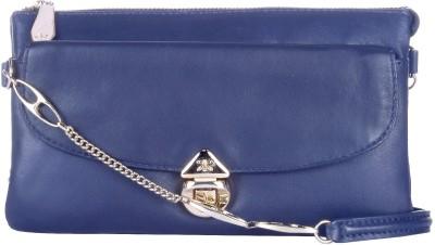 RI2K Women, Girls Evening/Party, Casual, Festive Blue Genuine Leather Sling Bag