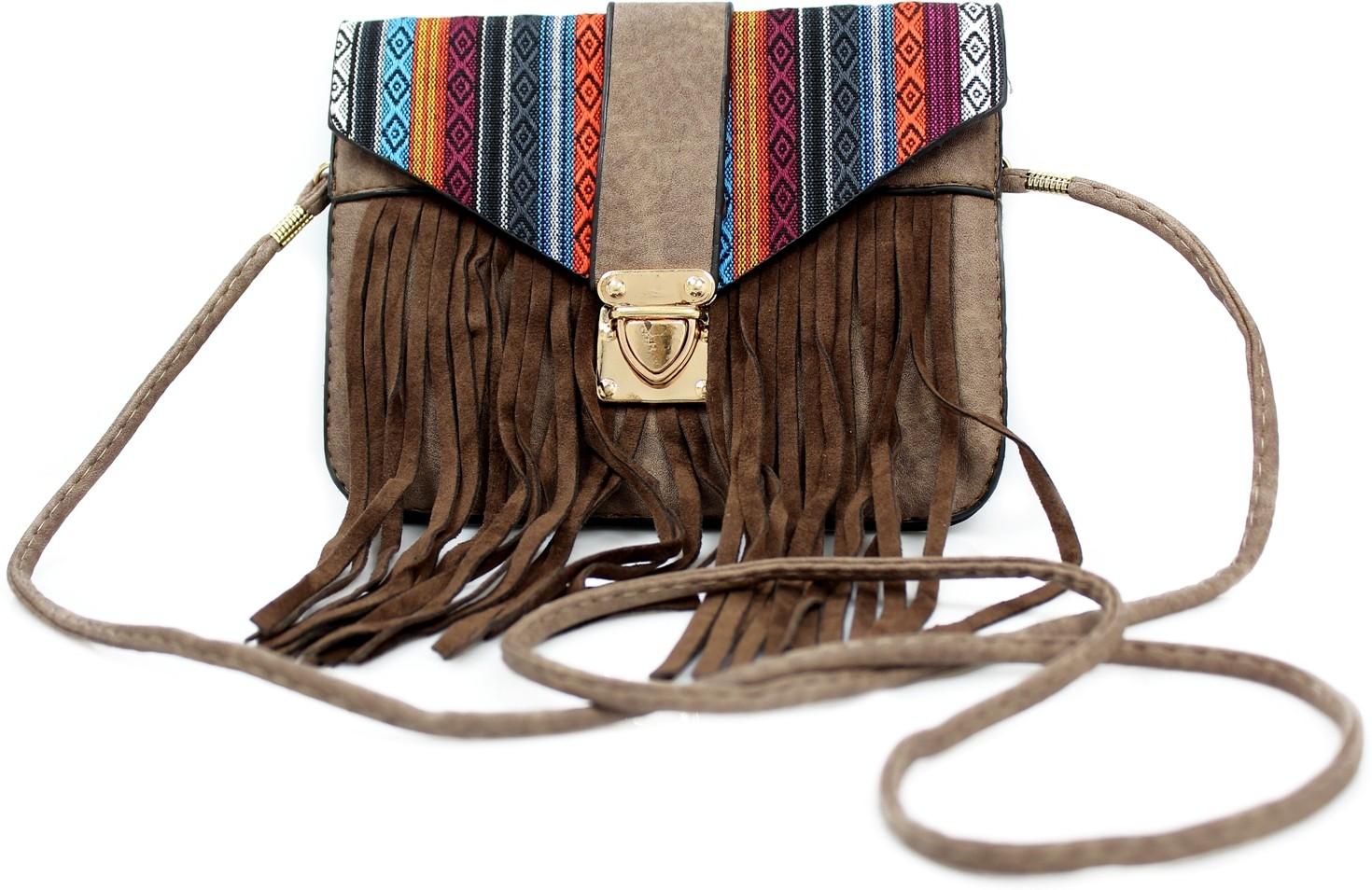 Sling bag below 500 - Hydes Girls Brown Leatherette Sling Bag