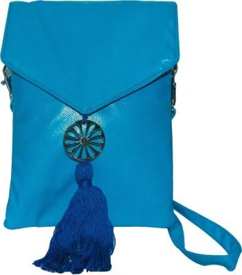Arabian Nights Women Blue Leatherette Sling Bag