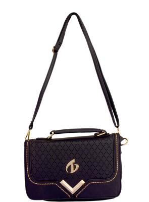 Cheery Women Black PU Sling Bag