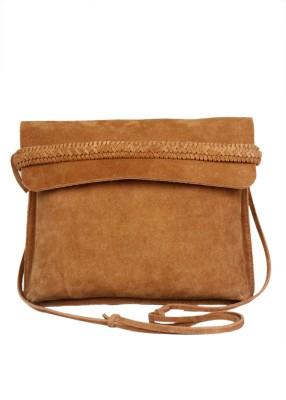 Romari Women Brown Genuine Leather Sling Bag