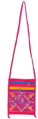 Domestiq Girls Casual Pink Canvas Sling Bag