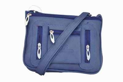 Ellis Women Casual Blue PU Sling Bag
