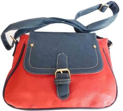 Laviva Women Red PU Sling Bag