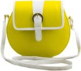 Voaka Women Yellow PU Sling Bag