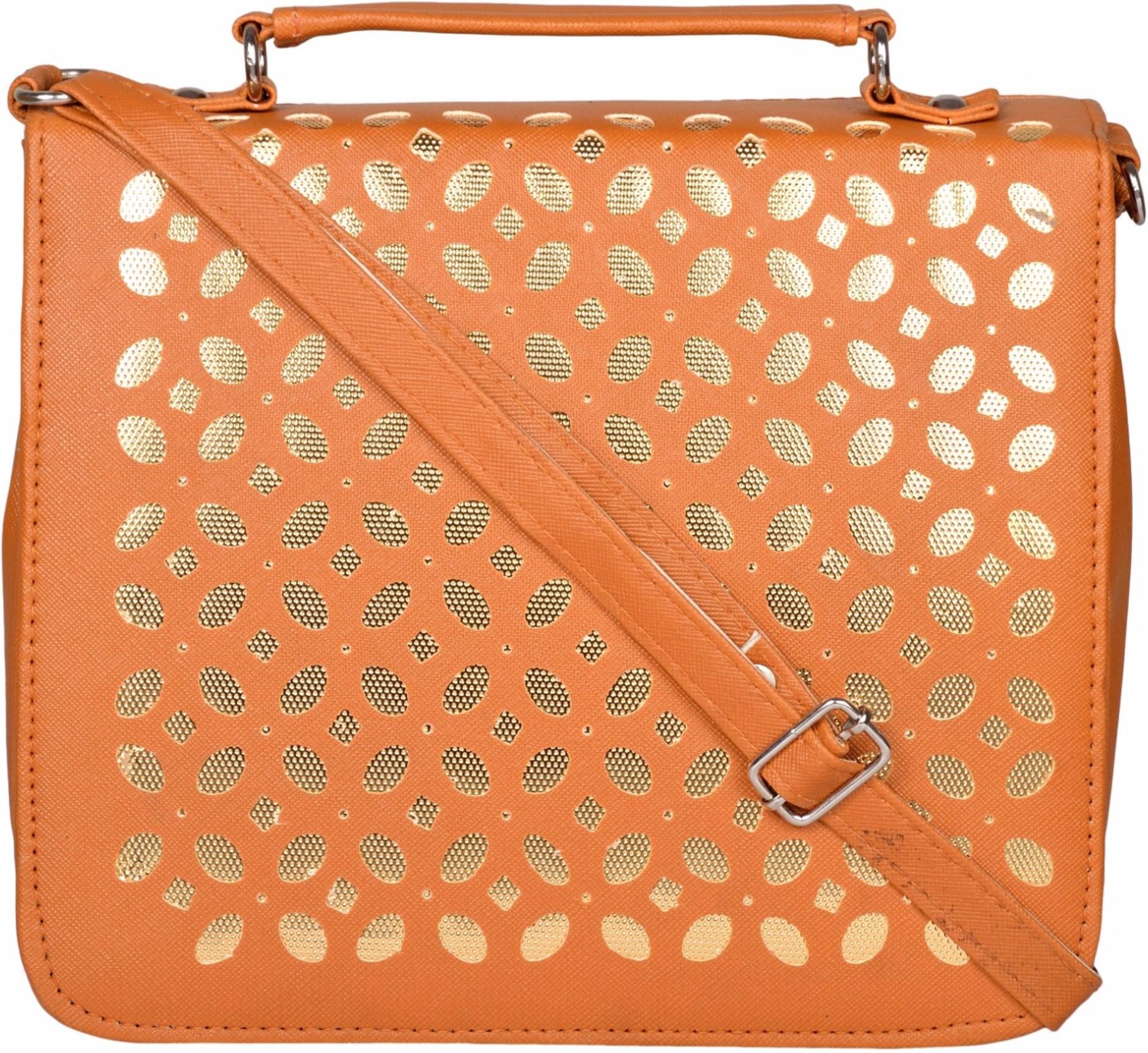 Sling bag below 500 - Cuddle Women Brown Pu Sling Bag