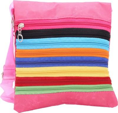 Globalgifts Women Casual Pink Cotton Sling Bag
