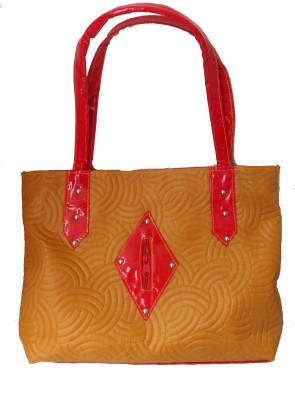 Modish Look Women, Girls Casual Yellow, Red PU Shoulder Bag