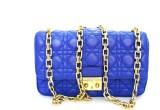Zaira Diamond Women Blue Genuine Leather...