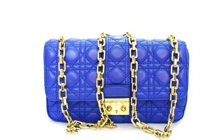 Zaira diamond Women Blue Genuine Leather Sling Bag