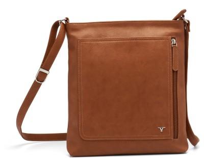 Bulchee Girls, Women Tan Leatherette Sling Bag
