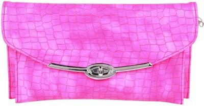Hide Bulls Men, Women Pink Leatherette Sling Bag
