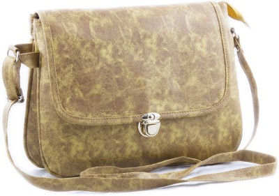 Voaka Women, Girls Yellow Leatherette Sling Bag