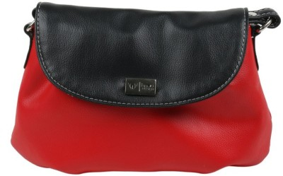 Beau Design Women Red, Black PU Sling Bag