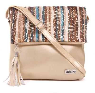 Adaira Girls Casual Gold PU Sling Bag