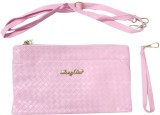 DCS Women Pink PU Sling Bag