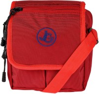 JG Shoppe Men Red Polyester Sling Bag