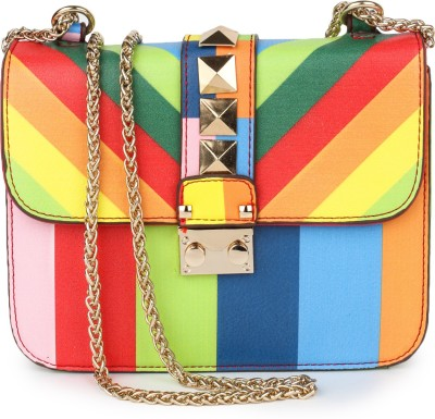 Amatra Women, Girls Evening/Party, Casual, Formal, Festive Multicolor Leatherette Sling Bag