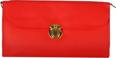 Fantosy Women Casual Red PU Sling Bag