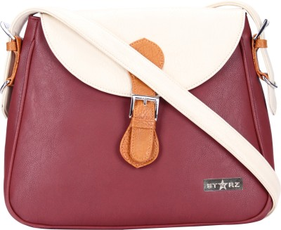 Starz Women, Girls Purple, White, Brown PU Sling Bag