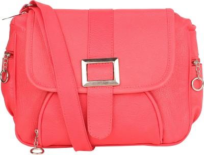 Fairdeals Women Red PU Sling Bag