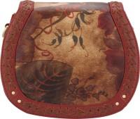 D'oro Women Maroon PU Sling Bag