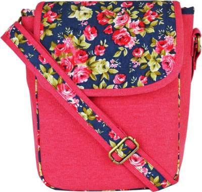 "Ã""mryk Girls Pink Canvas Sling Bag"