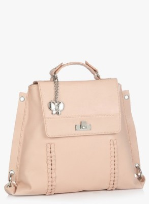 Butterflies Women Casual Pink PU Sling Bag