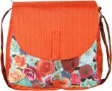 Vogue Tree Women Orange PU Sling Bag
