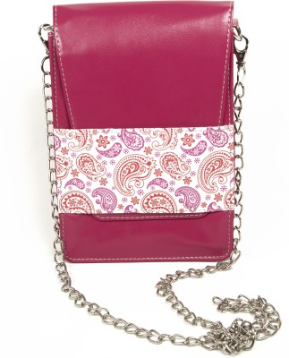 Mad(e) in India Women Casual Pink PU Sling Bag