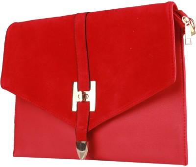 Fiza Women Red Leatherette Sling Bag