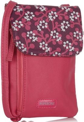 Peperone Girls, Women Pink PU Sling Bag