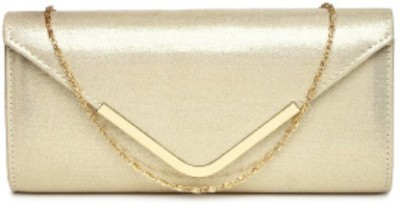 ToniQ Girls, Women Gold Polyester Sling Bag